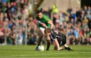 1 July 2017; Charlie Harrison of Sligo in action against James McEntee of Meath during the GAA Football All-Ireland Senior Championship Round 2A match between Meath and Sligo at Páirc Tailteann in Navan, Co Meath. Photo by Piaras Ó Mídheach/Sportsfile