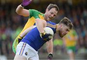 1 July 2017; Conor Berry of Longford in action against Michael Murphy of Donegal during the GAA Football All-Ireland Senior Championship Round 2A match between Donegal and Longford at MacCumhaill Park in Ballybofey, Co Donegal. Photo by Oliver McVeigh/Sportsfile