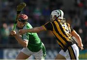 1 July 2017; David Dempsey of Limerick in action against Padraig Walsh of Kilkenny during the GAA Hurling All-Ireland Senior Championship Round 1 match between Kilkenny and Limerick at Nowlan Park in Kilkenny. Photo by Ray McManus/Sportsfile