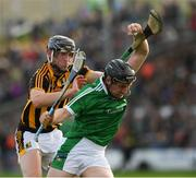 1 July 2017; Peter Casey of Limerick in action against Joe Lyng of Kilkenny during the GAA Hurling All-Ireland Senior Championship Round 1 match between Kilkenny and Limerick at Nowlan Park in Kilkenny. Photo by Ray McManus/Sportsfile
