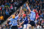 1 July 2017; Eamon Dillon, left, and Ryan O'Dwyer of Dublin in action against Eric Killeen of Laois during the GAA Hurling All-Ireland Senior Championship Round 1 match between Dublin and Laois at Parnell Park in Dublin. Photo by David Fitzgerald/Sportsfile