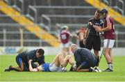 1 July 2017; Niall O'Meara of Tipperary reacts on the pitch before stretchered off after picking up an injury, as referee Paud O'Dwyer speaks to of Paul Greville of Westmeath during the GAA Hurling All-Ireland Senior Championship Round 1 match between Tipperary and Westmeath at Semple Stadium in Thurles, Co Tipperary. Photo by Diarmuid Greene/Sportsfile
