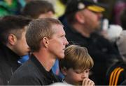1 July 2017; Former Kilkenny star and ten times All Ireland winner Henry Shefflin watches the game from the stand during the GAA Hurling All-Ireland Senior Championship Round 1 match between Kilkenny and Limerick at Nowlan Park in Kilkenny. Photo by Ray McManus/Sportsfile
