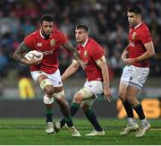1 July 2017; Courtney Lawes with the support of his British and Irish Lions team-mates Sam Warburton and Conor Murray, right, during the Second Test match between New Zealand All Blacks and the British & Irish Lions at Westpac Stadium in Wellington, New Zealand. Photo by Stephen McCarthy/Sportsfile