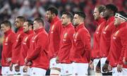 1 July 2017; British and Irish Lions players including Sam Warburton and Conor Murray face the New Zealand haka during the Second Test match between New Zealand All Blacks and the British & Irish Lions at Westpac Stadium in Wellington, New Zealand. Photo by Stephen McCarthy/Sportsfile