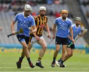 2 July 2017; Mark Grogan of Dublin in action against Jim Ryan of Kilkenny during the Electric Ireland Leinster GAA Hurling Minor Championship Final match between Dublin and Kilkenny at Croke Park in Dublin. Photo by Ray McManus/Sportsfile