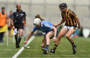 2 July 2017; Lee Gannon of Dublin in action against of Niall Brassil of Kilkenny during the Electric Ireland Leinster GAA Hurling Minor Championship Final match between Dublin and Kilkenny at Croke Park in Dublin. Photo by David Maher/Sportsfile
