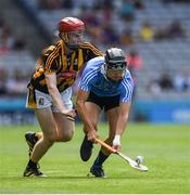 2 July 2017; Seán Currie of Dublin in action against Darragh Walsh of Kilkenny during the Electric Ireland Leinster GAA Hurling Minor Championship Final match between Dublin and Kilkenny at Croke Park in Dublin. Photo by Ray McManus/Sportsfile