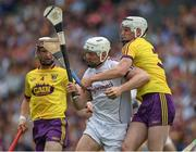 2 July 2017; Joe Canning of Galway is tackled by Liam Ryan of Wexford during the Leinster GAA Hurling Senior Championship Final match between Galway and Wexford at Croke Park in Dublin. Photo by Ray McManus/Sportsfile