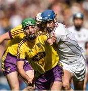 2 July 2017; Shaun Murphy of Wexford in action against  Conor Cooney of Galway during the Leinster GAA Hurling Senior Championship Final match between Galway and Wexford at Croke Park in Dublin. Photo by David Maher/Sportsfile