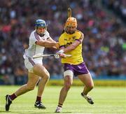 2 July 2017; Eoin Moore of Wexford in action against Conor Cooney of Galway during the Leinster GAA Hurling Senior Championship Final match between Galway and Wexford at Croke Park in Dublin. Photo by Ray McManus/Sportsfile