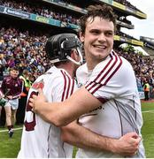 2 July 2017; Joseph Cooney, right, of Galway celebrates with Padraic Mannion at the end of the Leinster GAA Hurling Senior Championship Final match between Galway and Wexford at Croke Park in Dublin. Photo by David Maher/Sportsfile