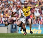 2 July 2017; Conor Whelan of Galway in action against James Breen of Wexford during the Leinster GAA Hurling Senior Championship Final match between Galway and Wexford at Croke Park in Dublin. Photo by David Maher/Sportsfile