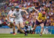 2 July 2017; Conor Cooney of Galway in action against Willie Devereux  of Wexford during the Leinster GAA Hurling Senior Championship Final match between Galway and Wexford at Croke Park in Dublin. Photo by Ray McManus/Sportsfile