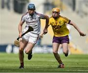 2 July 2017; Conor Cooney of Galway in action against Simon Donohoe of Wexford during the Leinster GAA Hurling Senior Championship Final match between Galway and Wexford at Croke Park in Dublin. Photo by David Maher/Sportsfile