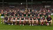 1 July 2017; Mayo team during the GAA Football All-Ireland Senior Championship Round 2A match between Mayo and Derry at Elverys MacHale Park, in Castlebar, Co Mayo. Photo by David Maher/Sportsfile