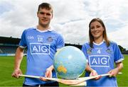 3 July 2017; Dublin's Cian O'Callaghan and Laura Twomey were in Parnell Park today to help AIG Insurance reveal details of their latest travel insurance offering. Those planning holidays this summer can avail of a 10% discount when they purchase their travel insurance online. Customers can get single trip insurance from only €4.52 and annual multi-trip holiday insurance from only €1.98 per month. Photo by Sam Barnes/Sportsfile