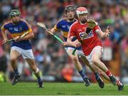 3 July 2017; Conor O'Callaghan of Cork in action against Conor McCarthy of Tipperary during the Electric Ireland Munster GAA Hurling Minor Championship semi-final replay match between Cork and Tipperary at Páirc Uí Rinn, Cork. Photo by Eóin Noonan/Sportsfile