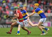 3 July 2017; Brian Roche of Cork in action against Jake Morris of Tipperary during the Electric Ireland Munster GAA Hurling Minor Championship semi-final replay match between Cork and Tipperary at Páirc Uí Rinn, Cork. Photo by Eóin Noonan/Sportsfile