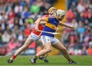 3 July 2017; James Keating of Cork in action against Anthony McKelvey of Tipperary during the Electric Ireland Munster GAA Hurling Minor Championship semi-final replay match between Cork and Tipperary at Páirc Uí Rinn, Cork. Photo by Eóin Noonan/Sportsfile