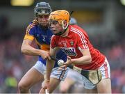 3 July 2017; Liam O'Shea of Cork in action against Michael Purcell of Tipperary during the Electric Ireland Munster GAA Hurling Minor Championship semi-final replay match between Cork and Tipperary at Páirc Uí Rinn, Cork. Photo by Eóin Noonan/Sportsfile