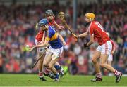 3 July 2017; Michael Feehan of Tipperary in action against Robert Downey of Cork during the Electric Ireland Munster GAA Hurling Minor Championship semi-final replay match between Cork and Tipperary at Páirc Uí Rinn, Cork. Photo by Eóin Noonan/Sportsfile