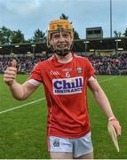 3 July 2017; James Keating of Cork celebrates after the final whislte during the Electric Ireland Munster GAA Hurling Minor Championship semi-final replay match between Cork and Tipperary at Páirc Uí Rinn, Cork. Photo by Eóin Noonan/Sportsfile