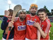 3 July 2017; Cork players celebrate after the Electric Ireland Munster GAA Hurling Minor Championship semi-final replay match between Cork and Tipperary at Páirc Uí Rinn, Cork. Photo by Eóin Noonan/Sportsfile