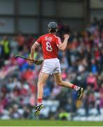 3 July 2017; Daire Connery of Cork celebrates as he scores a late point from a free during the Electric Ireland Munster GAA Hurling Minor Championship semi-final replay match between Cork and Tipperary at Páirc Uí Rinn, Cork. Photo by Eóin Noonan/Sportsfile