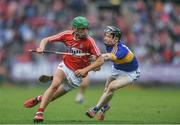 3 July 2017; Brian Turnbull of Cork in action against Jerome Cahill of Tipperary during the Electric Ireland Munster GAA Hurling Minor Championship semi-final replay match between Cork and Tipperary at Páirc Uí Rinn, Cork. Photo by Eóin Noonan/Sportsfile