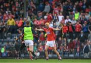3 July 2017; Craig Hanafin of Cork celebrates at the final whislte during the Electric Ireland Munster GAA Hurling Minor Championship semi-final replay match between Cork and Tipperary at Páirc Uí Rinn, Cork. Photo by Eóin Noonan/Sportsfile