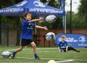 5 July 2017; Jamie Heaslip and Jamison Gibson-Park of Leinster Rugby came out to the Bank of Ireland Summer Camp to meet up with some local young rugby talent in Terenure College RFC. Pictured is Cian Collins, from Kimmage, Dublin. Terenure College RFC, Terenure, Dublin. Photo by Seb Daly/Sportsfile