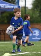 5 July 2017; Jamie Heaslip and Jamison Gibson-Park of Leinster Rugby came out to the Bank of Ireland Summer Camp to meet up with some local young rugby talent in Terenure College RFC. Pictured is Max Morton, from Terenure, Dublin, Terenure College RFC, Terenure, Dublin. Photo by Seb Daly/Sportsfile