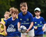 5 July 2017; Jamie Heaslip and Jamison Gibson-Park of Leinster Rugby came out to the Bank of Ireland Summer Camp to meet up with some local young rugby talent in Terenure College RFC. Pictured is Cormac Kilroy, from Terenure, Dublin. Terenure College RFC, Terenure, Dublin. Photo by Seb Daly/Sportsfile