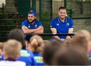 5 July 2017; Jamie Heaslip and Jamison Gibson-Park of Leinster Rugby came out to the Bank of Ireland Summer Camp to meet up with some local young rugby talent in Terenure College RFC. Pictured is a general view of a question and answer session with the players. Terenure College RFC, Terenure, Dublin. Photo by Seb Daly/Sportsfile