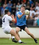5 July 2017; James Madden of Dublin in action against DJ Earley of Kildare during the Electric Ireland Leinster GAA Football Minor Championship Semi-Final match between Kildare and Dublin at St Conleth's Park in Newbridge, Co Kildare. Photo by Piaras Ó Mídheach/Sportsfile