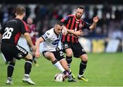 5 July 2017; Dylan Connolly of Dundalk in action against Paddy Kavanagh of Bohemians during SSE Airtricity League Premier Division match between Bohemians and Dundalk at Dalymount Park in Dublin. Photo by Sam Barnes/Sportsfile