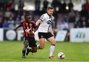 5 July 2017; Patrick McEleney of Dundalk in action against Fuad Sule of Bohemians during SSE Airtricity League Premier Division match between Bohemians and Dundalk at Dalymount Park in Dublin. Photo by Sam Barnes/Sportsfile