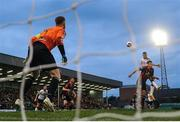 5 July 2017; Ciaran Kilduff of Dundalk rises highest to score his side's first goal during SSE Airtricity League Premier Division match between Bohemians and Dundalk at Dalymount Park in Dublin. Photo by Sam Barnes/Sportsfile