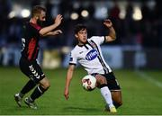 5 July 2017; Jamie McGrath of Dundalk in action against Dylan Hayes of Bohemians during SSE Airtricity League Premier Division match between Bohemians and Dundalk at Dalymount Park in Dublin. Photo by Sam Barnes/Sportsfile