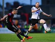 5 July 2017; Chris Shields of Dundalk in action against Phillip Gannon of Bohemians during SSE Airtricity League Premier Division match between Bohemians and Dundalk at Dalymount Park in Dublin. Photo by Sam Barnes/Sportsfile