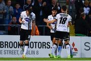 5 July 2017; Ciaran Kilduff of Dundalk, left, celebrates after scoring his side's first goal during SSE Airtricity League Premier Division match between Bohemians and Dundalk at Dalymount Park in Dublin. Photo by Sam Barnes/Sportsfile