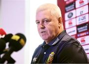 6 July 2017; British & Irish Lions head coach Warren Gatland during a press conference at The Pullman Hotel in Auckland, New Zealand. Photo by Stephen McCarthy/Sportsfile