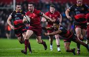 3 November 2017; JJ Hanrahan of Munster is tackled by Ashton Hewitt of Dragons during the Guinness PRO14 Round 8 match between Munster and Dragons at Irish Independent Park in Cork. Photo by Matt Browne/Sportsfile