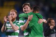 6 July 2017; Ronan Finn of Shamrock Rovers celebrates after the Europa League First Qualifying Round Second Leg match between Shamrock Rovers and Stjarnan at Tallaght Stadium in Tallaght, Co Dublin. Photo by Cody Glenn/Sportsfile