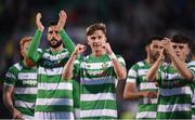 6 July 2017; Ronan Finn of Shamrock Rovers and his team-mates celebrate after the Europa League First Qualifying Round Second Leg match between Shamrock Rovers and Stjarnan at Tallaght Stadium in Tallaght, Co Dublin. Photo by Cody Glenn/Sportsfile
