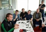 7 July 2017; Glasgow Celtic manager Brendan Rodgers during a press conference at the Castleknock Hotel in Dublin. Photo by Piaras Ó Mídheach/Sportsfile
