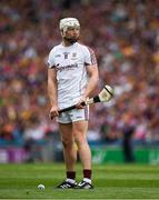 2 July 2017; Joe Canning of Galway prepares to take a free in the 33rd minute of the Leinster GAA Hurling Senior Championship Final match between Galway and Wexford at Croke Park in Dublin. Photo by Ray McManus/Sportsfile
