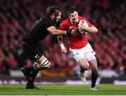 8 July 2017; Jonathan Sexton of the British & Irish Lions is tackled by Sam Whitelock of New Zealand during the Third Test match between New Zealand All Blacks and the British & Irish Lions at Eden Park in Auckland, New Zealand. Photo by Stephen McCarthy/Sportsfile