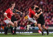 8 July 2017; Codie Taylor of New Zealand is tackled by Conor Murray of the British & Irish Lions during the Third Test match between New Zealand All Blacks and the British & Irish Lions at Eden Park in Auckland, New Zealand. Photo by Stephen McCarthy/Sportsfile